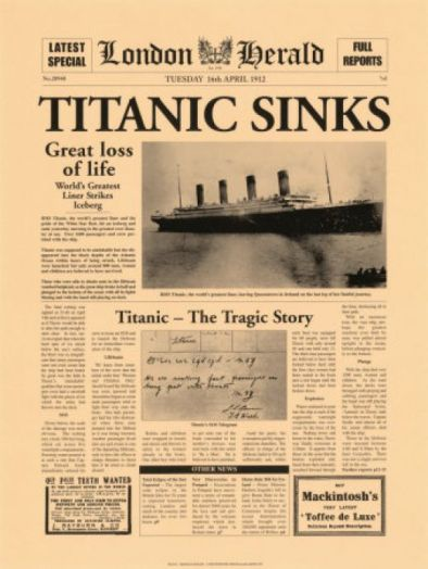 bulletin: Titanic Remembrance Day 2012: Titanic 100th Anniversary